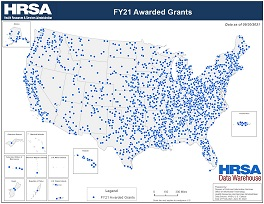 Preview Map of FY20 Awarded Grants